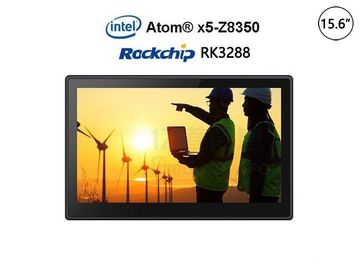"Android 15.6"" Fanless Industrial Panel PC With RK3288 CPU Multi Points Capacity Touch"
